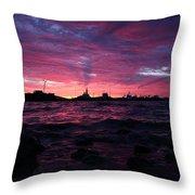 Port Angeles Harbor Twelve Throw Pillow