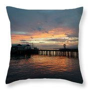 Port Angeles Sunrise Throw Pillow
