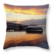 Port Angeles Sunset Throw Pillow