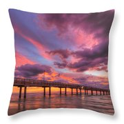 Port Aransas Texas Sunrise 25 Throw Pillow