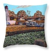 Port Burwell, Ontario Throw Pillow