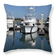Port Canaveral Floirda Usa Throw Pillow