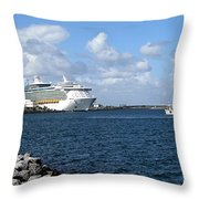 Port Canaveral In Floirda Throw Pillow