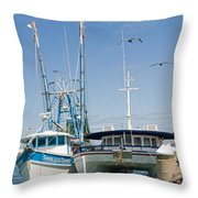 Port Canaveral On The East Coast Of Florida Throw Pillow