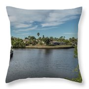 Port Charlotte Adhenry Waterway From Midway Throw Pillow