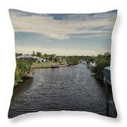 Port Charlotte Atlantus Waterway From Ohara Throw Pillow