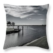 Port Charlotte Bay Harbor Waterway From Ohara Throw Pillow