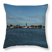 Port Charlotte Beeney Water Way From Beeney Throw Pillow
