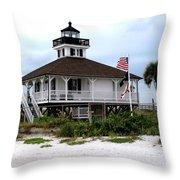 Port Charlotte Harbor Lighthouse Throw Pillow