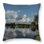 Port Charlotte Niagara Water Way From Olean Throw Pillow
