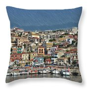 Port City Parga Greece - Dwp1163344 Throw Pillow
