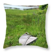 Port Clyde Boat Throw Pillow