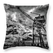 Port Crane Throw Pillow