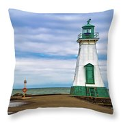 Port Dalhousie Lighthouse 1 Throw Pillow