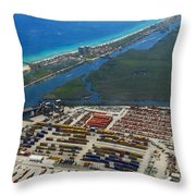 Port Everglades Florida Throw Pillow