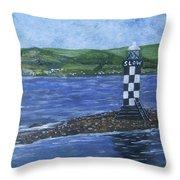 Port Glasgow, Perch Lighthouse Throw Pillow