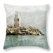 Port In Alanya City-turkey  Throw Pillow