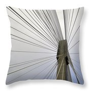 Port Mann Bridge Throw Pillow