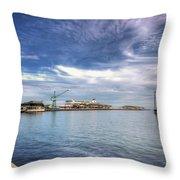 Port Melbourne Harbour Throw Pillow