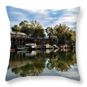 Port Of Echuca Throw Pillow