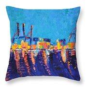 Port Of Malaga Throw Pillow