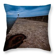 Port Of Newcastle Throw Pillow