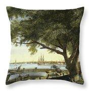 Port Of Philadelphia, 1800 Throw Pillow by Granger