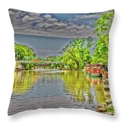 Port Of Pittsford, Ny Throw Pillow