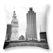 Port Of San Francisco Black And White- Art By Linda Woods Throw Pillow