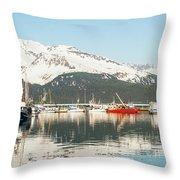 Port Of Seward Alaska  Throw Pillow