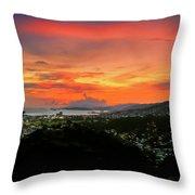 Port Of Spain Sunset Throw Pillow