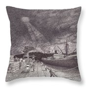 Port Of Tacoma Wa Waterfront Throw Pillow