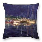 Marina Evening Reflections Throw Pillow