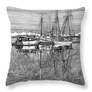 Port Orchard Marina Throw Pillow