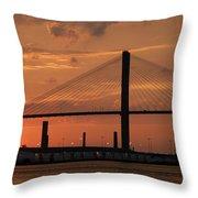 Port Savannah Sunset Throw Pillow