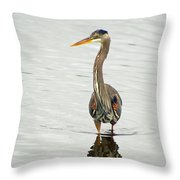 Port Townsend Blue Heron Throw Pillow