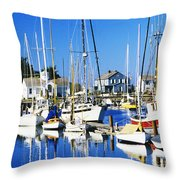 Port Townsend Harbor Throw Pillow