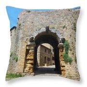 Porta All' Arco Volterra Throw Pillow