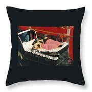 Portabello Babies Throw Pillow