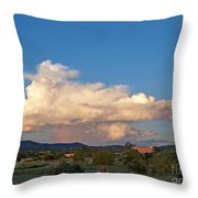 Portable Rainbow Throw Pillow