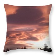 Portal In The Sky Throw Pillow