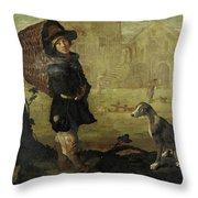 Portarolo Col Cane Throw Pillow