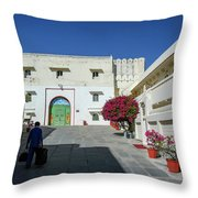 Porter, Udaipur, Rajasthan Throw Pillow