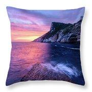 Portevenere Sunset Throw Pillow