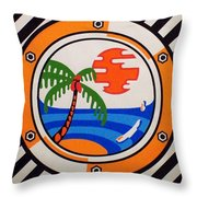 Porthole Paradise Throw Pillow