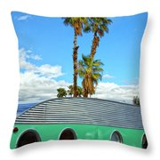 Portholes Palm Springs Throw Pillow