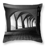 Portico - Sudtirol / Italy Throw Pillow