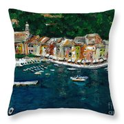 Portifino Italy Throw Pillow