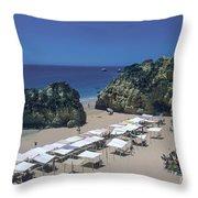 Portimao Beach Throw Pillow