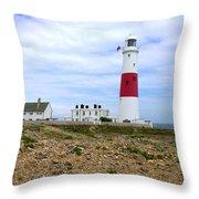 Portland Bill Lighthouse Throw Pillow